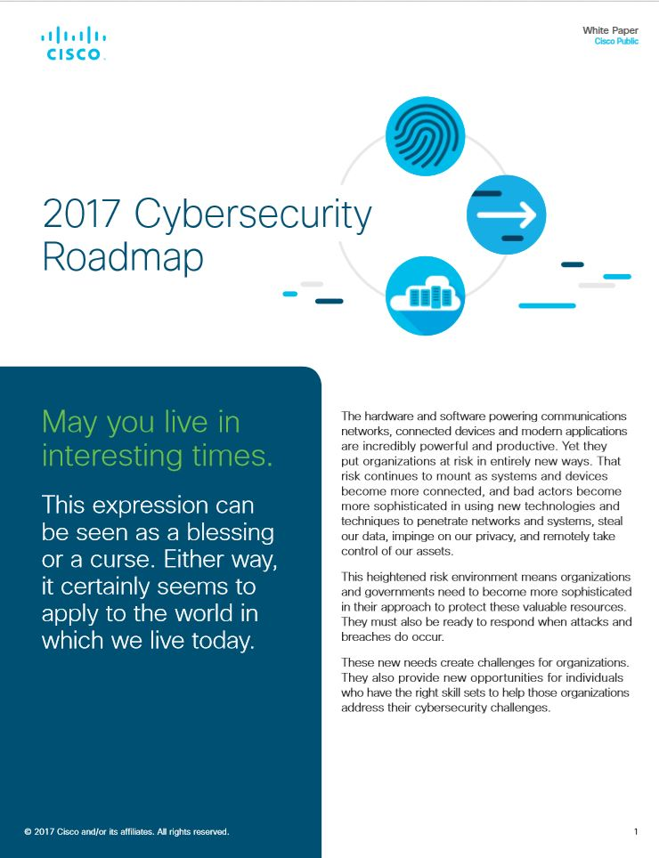2017 Cybersecurity Roadmap